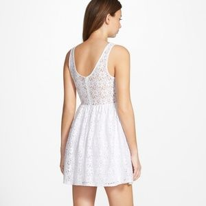 6aa6854989 painted threads Dresses - White lace summer skater dress - juniors